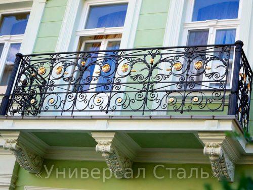 Кованый балкон №63 — фото