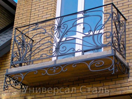 Кованый балкон №65 — фото