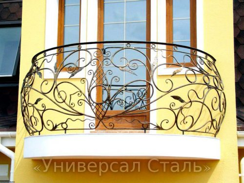 Кованый балкон №7 — фото