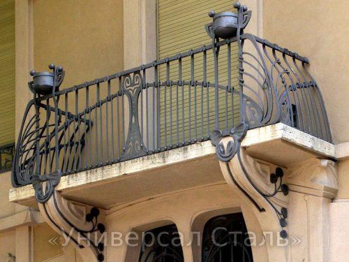 Кованый балкон №72 — фото