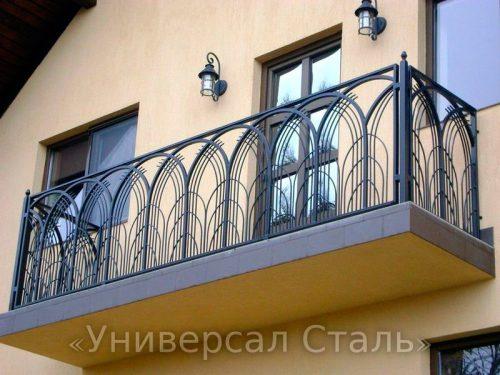 Кованый балкон №74 — фото