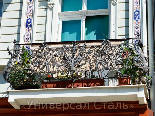 Кованый балкон №79 — фото