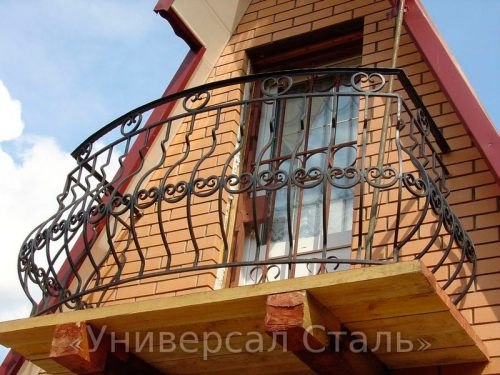 Кованый балкон №81 — фото