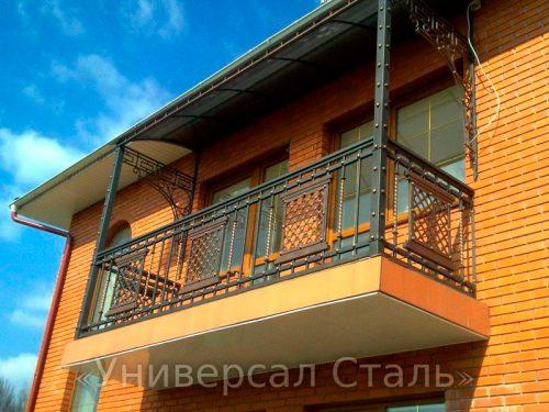 Кованый балкон №86 — фото