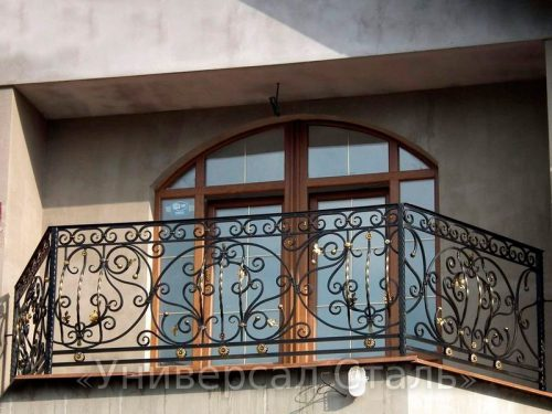 Кованый балкон №89 — фото