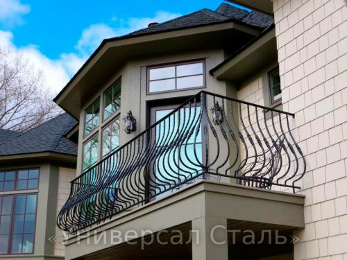 Кованый балкон №91 — фото