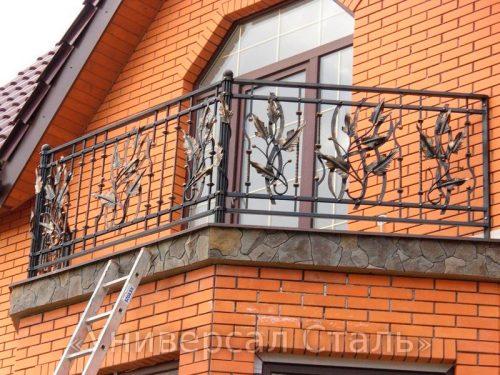 Кованый балкон №93 — фото