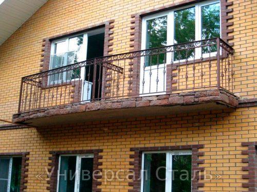 Кованый балкон №97 — фото