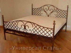 Кованая кровать №102 - фото 1