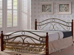 Кованая кровать №105 - фото 1