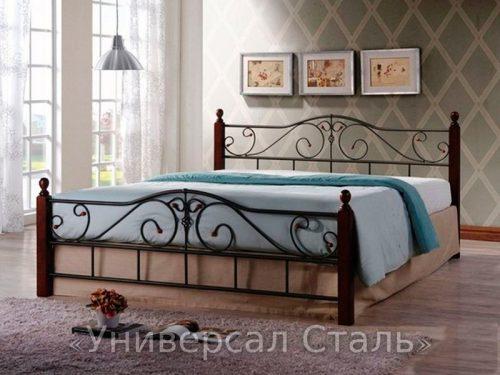 Кованая кровать №107 — фото