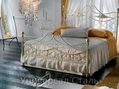Кованая кровать №116 — фото