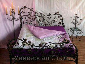 Кованая кровать №120