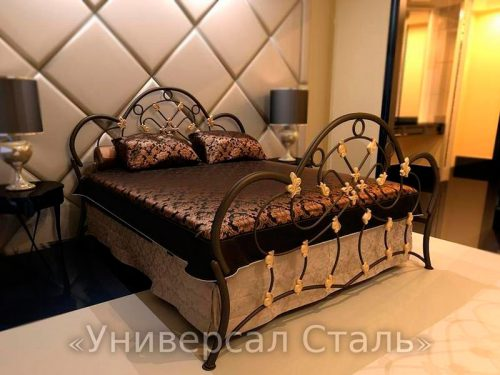 Кованая кровать №18 — фото