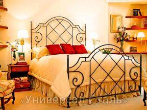 Кованая кровать №22 - фото 1