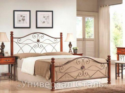 Кованая кровать №41 — фото