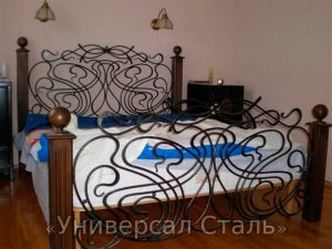 Кованая кровать №43 - фото 1