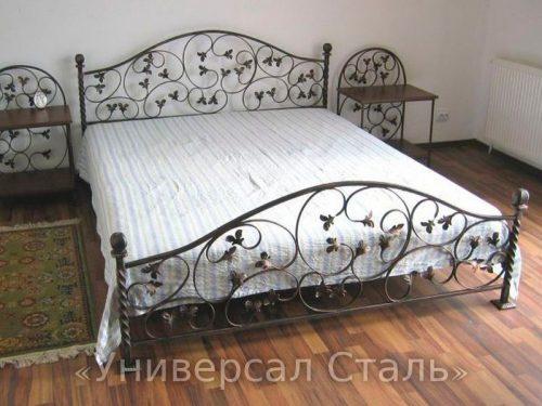 Кованая кровать №45 — фото