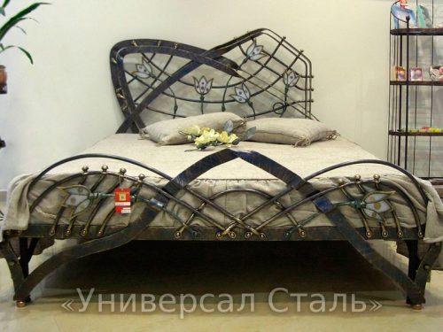 Кованая кровать №52 — фото
