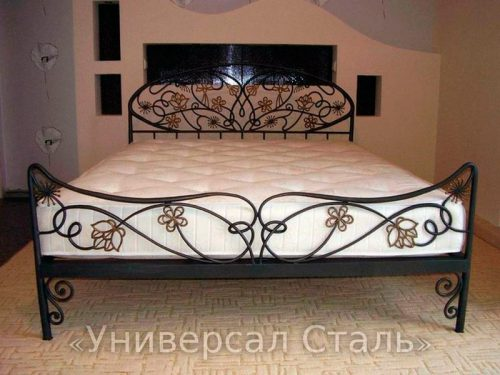 Кованая кровать №74 — фото