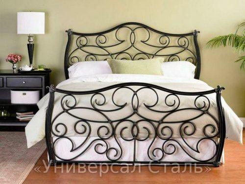 Кованая кровать №75 — фото