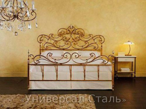 Кованая кровать №76 — фото