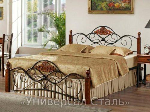 Кованая кровать №84 — фото