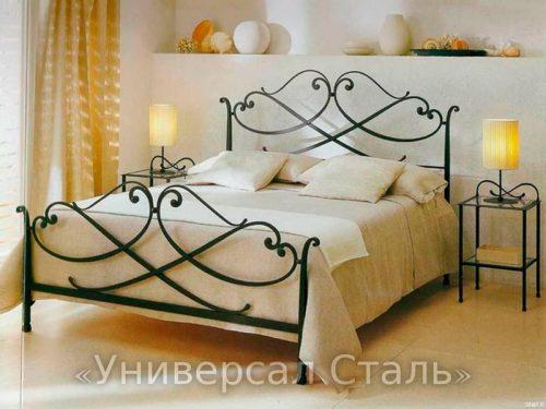 Кованая кровать №89 — фото