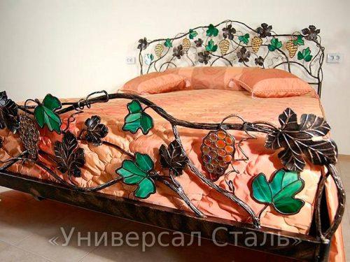 Кованая кровать №92 — фото