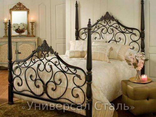 Кованая кровать №98 — фото