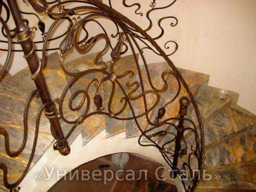 Кованые перила №114 — фото