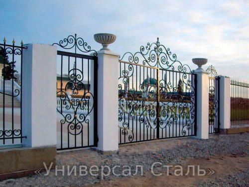 Кованые ворота V-002 — фото