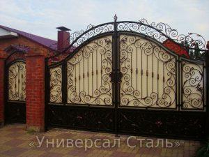 Кованые ворота V-003