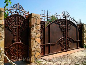 Кованые ворота V-004
