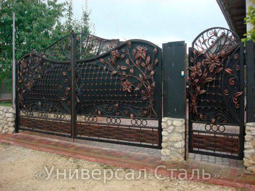 Кованые ворота V-005 — фото