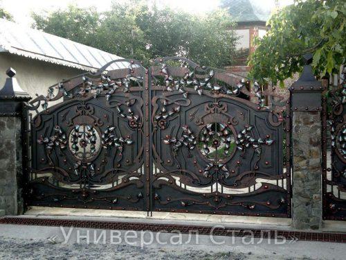 Кованые ворота V-007 — фото