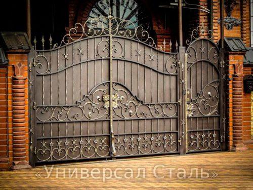 Кованые ворота V-008 — фото