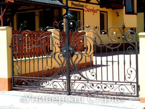 Кованые ворота V-009 — фото