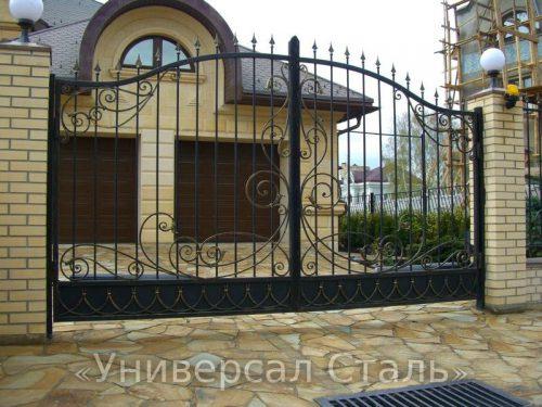 Кованые ворота V-010 — фото