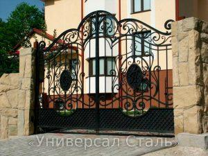 Кованые ворота V-011 - фото 1