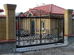 Кованые ворота V-012 - фото 1