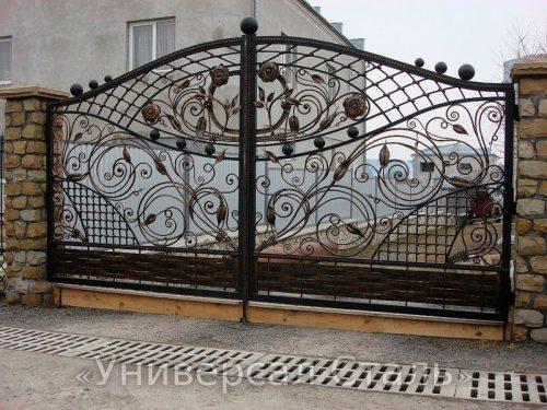 Кованые ворота V-013 — фото