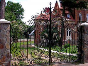 Кованые ворота V-014 - фото 1