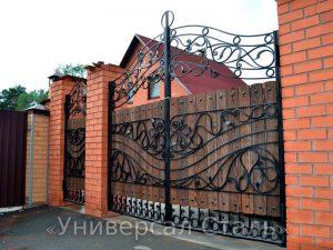 Кованые ворота V-015 - фото 1