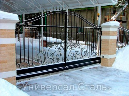 Кованые ворота V-016 — фото