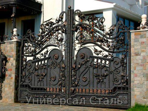 Кованые ворота V-017 — фото