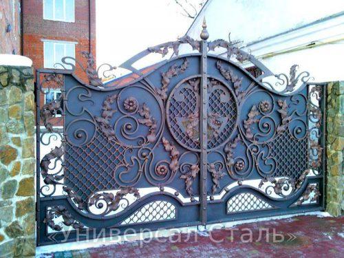 Кованые ворота V-018 — фото