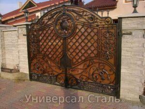 Кованые ворота V-019