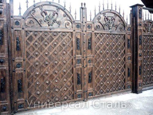 Кованые ворота V-020 — фото