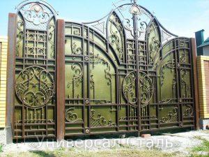 Кованые ворота V-022